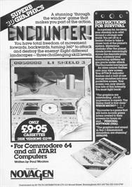 Advert for Encounter! on the Commodore 64.