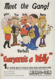 Advert for Everyone's A Wally on the Commodore 64.