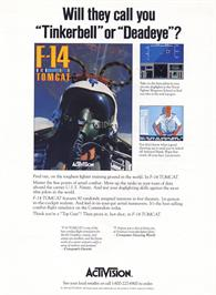 Advert for F-14 Tomcat on the Commodore 64.