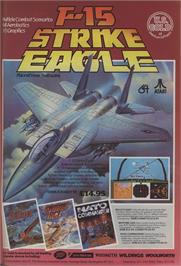 Advert for F-15 Strike Eagle on the Commodore 64.