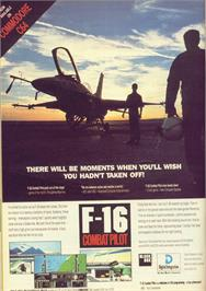 Advert for F-16 Combat Pilot on the Commodore 64.