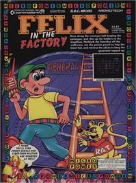 Advert for Felix in the Factory on the Commodore 64.