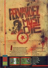 Advert for Fernandez Must Die on the Commodore 64.