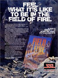 Advert for Field of Fire on the Commodore 64.