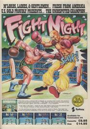 Advert for Fight Night on the Atari 8-bit.