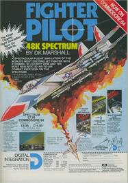 Advert for Fighter Pilot on the Commodore 64.