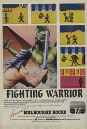 Advert for Fighting Warrior on the Commodore 64.