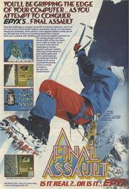 Advert for Final Assault on the Commodore 64.