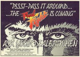 Advert for Final Fight on the Commodore 64.