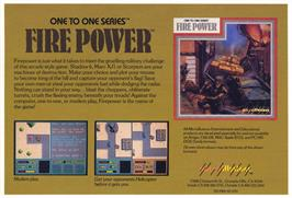 Advert for Fire Power on the Commodore Amiga.