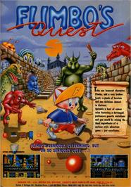 Advert for Flimbo's Quest on the Commodore 64.