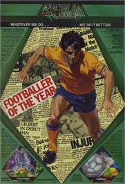 Advert for Footballer of the Year on the Amstrad CPC.