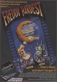Advert for Freddy Hardest on the Commodore 64.