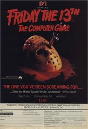 Advert for Friday the 13th on the Nintendo NES.