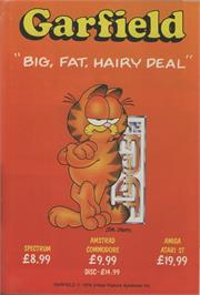 Advert for Garfield: Big, Fat, Hairy Deal on the Commodore Amiga.