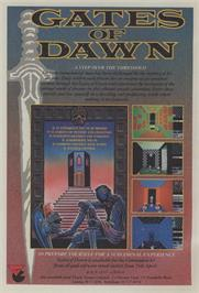 Advert for Gates of Dawn on the Commodore 64.