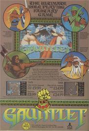 Advert for Gauntlet on the Commodore 64.