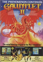 Advert for Gauntlet III: The Final Quest on the Commodore 64.