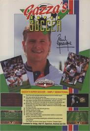 Advert for Gazza's Super Soccer on the Commodore 64.