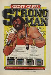 Advert for Geoff Capes Strongman on the Amstrad CPC.