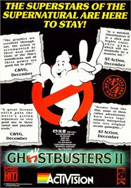 Advert for Ghostbusters on the Commodore 64.
