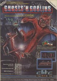 Advert for Ghosts'n Goblins on the Commodore 64.