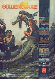 Advert for Golden Axe on the Commodore 64.