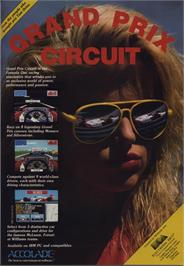 Advert for Grand Prix Circuit on the Commodore 64.