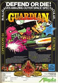 Advert for Guardian on the Commodore 64.