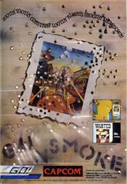 Advert for Gun.Smoke on the Commodore 64.