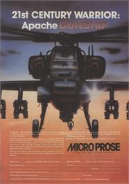 Advert for Gunship on the Commodore 64.