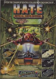 Advert for H.A.T.E. on the Commodore 64.