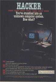 Advert for Hacker on the Commodore Amiga.