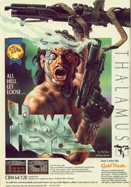 Advert for Hawkeye on the Commodore 64.