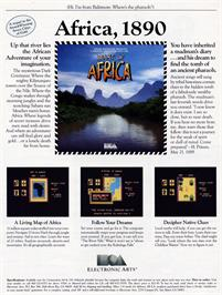 Advert for Heart of Africa on the Commodore 64.