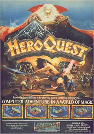 Advert for Hero Quest on the Commodore 64.