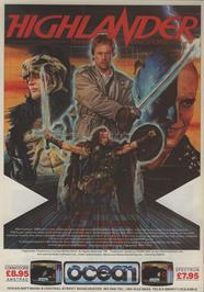 Advert for Highlander on the Amstrad CPC.