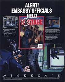 Advert for Hostage: Rescue Mission on the MSX.