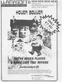 Advert for Hover Bovver on the Commodore 64.