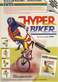 Advert for Hyper Biker on the Commodore 64.