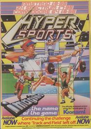 Advert for Hyper Sports on the Commodore 64.