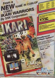 Advert for Ikari Warriors on the Commodore 64.