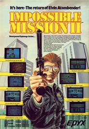 Advert for Impossible Mission II on the Commodore 64.