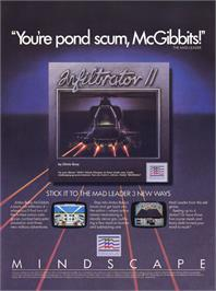 Advert for Infiltrator II on the Commodore 64.