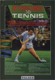 Advert for International 3D Tennis on the Commodore 64.