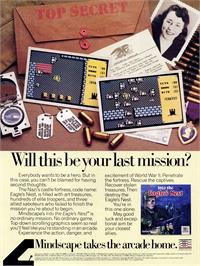 Advert for Into the Eagle's Nest on the Atari ST.