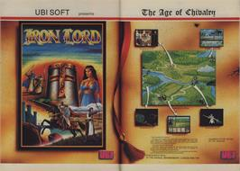 Advert for Iron Lord on the Commodore 64.