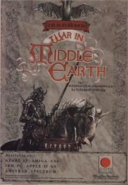 Advert for J.R.R. Tolkien's War in Middle Earth on the Amstrad CPC.