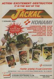 Advert for Jackal on the Amstrad CPC.