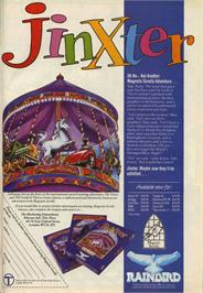 Advert for Jinxter on the Commodore 64.